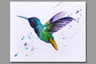 Paint Nite: Hummingbird Takes Flight
