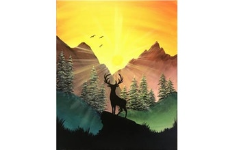 Virtual Paint Nite: In The Clearing (Ages 6+)