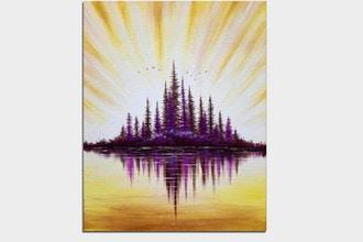 Paint Nite: Lake Sunrise III (Ages 6+)