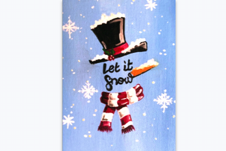Paint Nite: Let it Snow Snowman