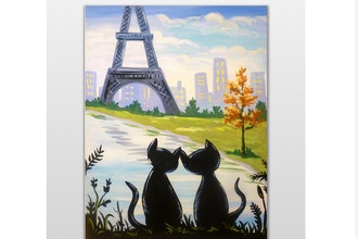 Paint Nite: Lovers in Paris