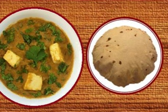 Virtual Cooking: Matar Paneer wi/ Phulka Roti (bread)