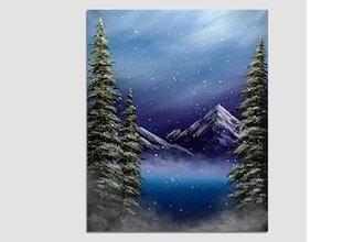 Paint Nite: Misty Mountain Winter