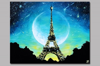 Moonlit Glowing Paris