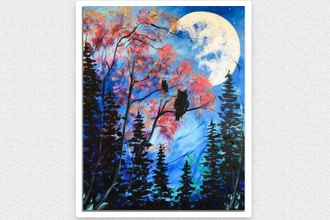 Paint Nite: Moonlight Owls