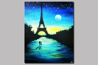 Paint Nite: Moonlit Night In Paris
