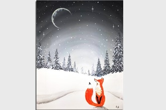 Paint Nite: Moonlit Winter Fox
