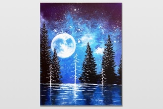 Paint Nite: Moonrise Lake