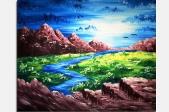 Paint Nite: Mountain River