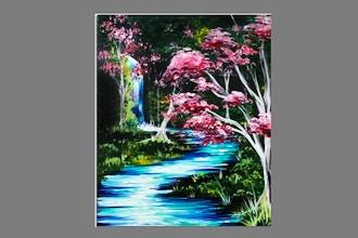 Paint Nite: Mystical Waterfall II