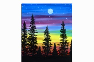 Paint Nite: Pretty Northern Sky