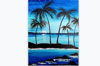 Paint Nite: Palm Tree Island Breeze