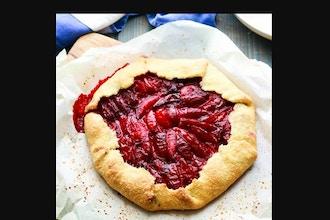 Virtual Baking: Vegan Plum Rosemary Galette