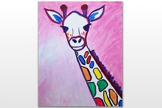 Paint Nite: Rainbow: The Giraffe