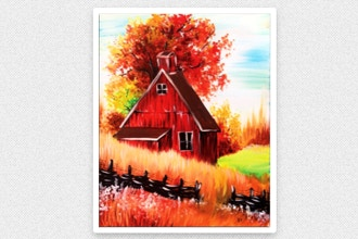 Paint Nite: Red Autumn Barn