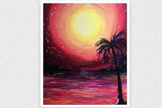 Paint Nite: Red Hot Sunset III