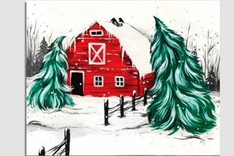 Paint Nite: Red Winter Barn