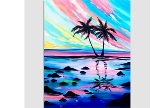 Virtual Paint Nite: Rockin' Sunset Palms