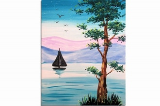 Paint Nite: Sailing In Pastel
