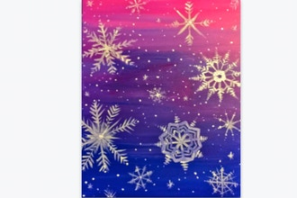 Paint Nite: Snowflakes at Sunset