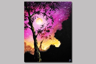 Starry Moonlit Tree