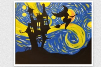 Paint Nite: Starry Witchy Ride