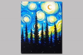 Paint Nite: Starry Pines