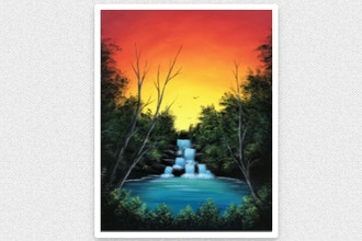Paint Nite: Sunset Lagoon (Ages 6+)