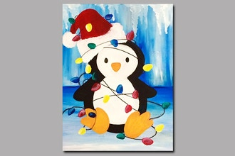 Virtual Paint Nite: Tangled Christmas Penguin (Ages 6+)