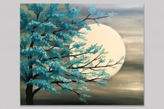 Paint Nite: Teal Tree in Moonlight (Ages 18+)