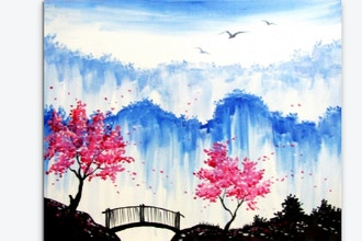 Paint Nite: The Hidden Blossoms and Bridge