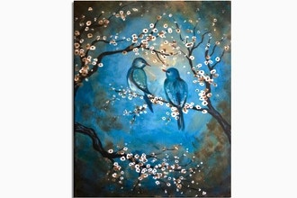 Paint Nite: Vintage Blue Birds