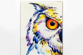 Paint Nite: White Horned Owl - Painting Classes Washington DC   CourseHorse  - Yaymaker