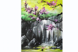 Paint Nite: Zen Cherry Blossoms