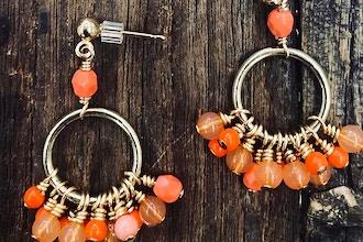 Beaded Cluster Shimmy Earrings