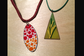 Art to Wear: Enameled Jewelry: Spring Wardrobe Pop