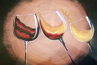 Pour a Glass Painting