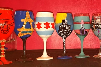 Wine Glass or Beer Mug Painting Class