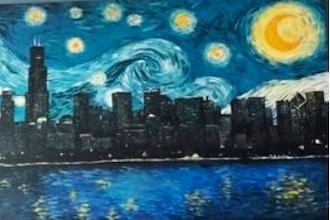 Chicago Van Gogh Style