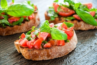 Appetizer: Bruschetta Two Ways