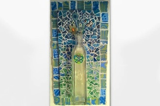 ​Saturday Mosaic Workshop: Bottle Wall Piece