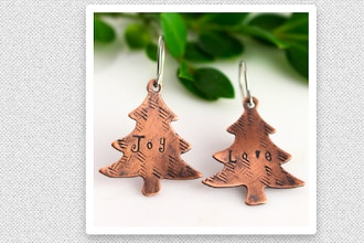 Personalized Holiday Tree Earrings Workshop