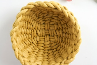 Felted Wool Twined Bowl