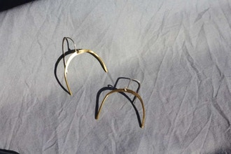 Silversmithing: Half Moon Earrings