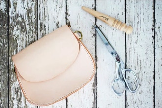 Hand Sewn Leather Waistpack with Treasure Mallory