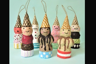 Papier Mache Holiday Ornament Workshop (Online)