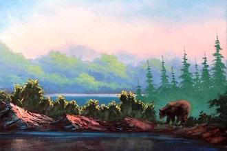 Paint a Bob Ross Oil Landscape