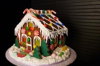 Illuminated Gingerbread House w/ Colored Windows