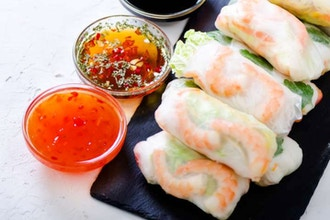 Couples Cooking: Asian Wraps
