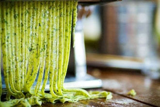 Couples Cooking: Handmade Herbed Fettuccine Pasta